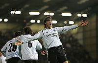 Photo: Lee Earle.<br /> Portsmouth v Chelsea. The Barclays Premiership.<br /> 26/11/2005. Chelsea's Hernan Crespo celebrates scoring their opening goal.
