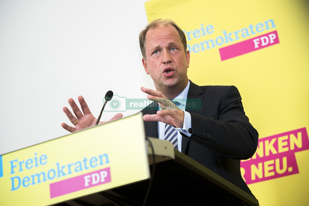 September 11, 2017 - Berlin, Germany - Minister for Children, Family, Refugees and Integration of North Rhine-Westphalia and FDP politician Joachim Stamp is pictured during during a news conference in Berlin, Germany on September 11, 2017. (Credit Image: © Emmanuele Contini/NurPhoto via ZUMA Press)