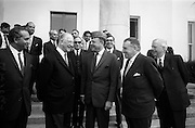 17/7/1964<br /> 7/17/1964<br /> 17 July 1964<br /> <br /> Ayub Khan President of Pakistan speaking with Irish President Éamon de Valera at Aras an Uachtarain