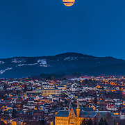 www.aziznasutiphotography.com                             This picture has been taken from Utsikten in Trondheim Norway. You see the NTNU university main and old building.