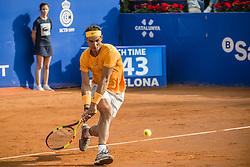 April 27, 2018 - Barcelona, Catalonia, Spain - Barcelona, Spain. 27 April, 2018: .RAFAEL NADAL (ESP) returns the ball to Martin Klizan (SVK) in their quarter final of the 'Barcelona Open Banc Sabadell' 2018. Nadal won 6:0, 7:5 (Credit Image: © Matthias Oesterle via ZUMA Wire)