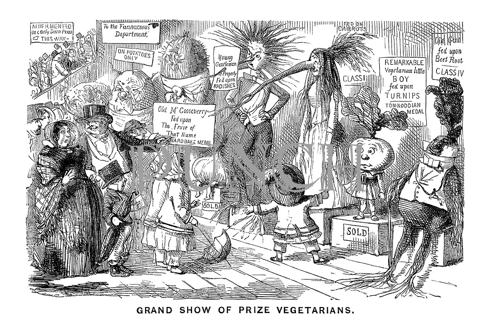 Grand Show of Prize Vegetarians.