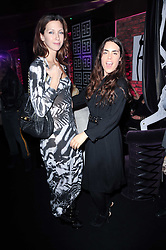 Left to right, MARGO STILLEY and TALLULAH ORMSBY-GORE at the Mulberry Event at Morton's Berkeley Square, London on 3rd November 2010.