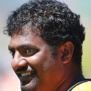 Sri Lankan cricket legend and World Record wicket taker Muttiah Muralidharan  during warm up before bowling in the Otago Voltz V Wellington Firebirds HRV Cup match at the Queenstown Events Centre, Queenstown, New Zealand. 31st December 2011