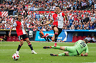 Feyenoord player Steven Berghuis (m) with a big chance during the Dutch football Eredivisie match between Feyenoord and Excelsior at De Kuip Stadium in Rotterdam, on August 19th, 2018 - Photo Dennis Wielders / Pro Shots / ProSportsImages / DPPI