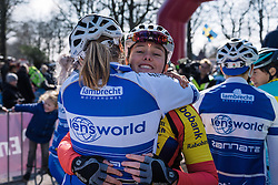 Catching up with old friends at sign in  - Drentse 8, a 140km road race starting and finishing in Dwingeloo, on March 13, 2016 in Drenthe, Netherlands.