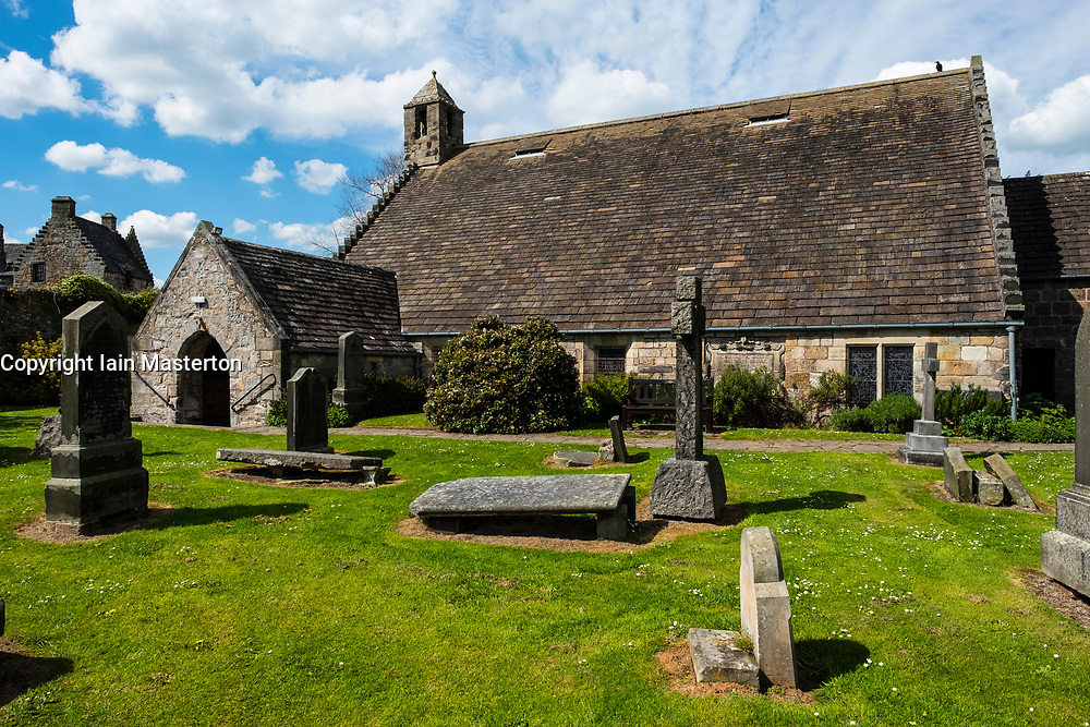 St Fillans Church at Aberdour in Fife , Scotland, UK