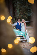 Twinkling lights at the wedding reception in Woodside, CA by Kristina Cilia Photography