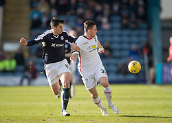 Dundee's Julen Extabegurenn and Inverness Caledonian Thistle's Miles Storey. <br /> Dundee 1 v 1 Inverness Caledonian Thistle, SPFL Ladbrokes Premiership game played at Dens Park, 27/2/2016.
