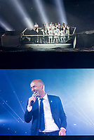 Real Madrid coach Zinedine Zidane during the celebration of the victory of the Real Madrid Champions League at Santiago Bernabeu in Madrid. May 29. 2016. (ALTERPHOTOS/Borja B.Hojas)