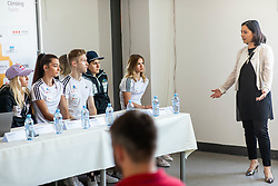 Natasa Hajdinjak of Prva zavarovalnica during press conference of Slovenian National Climbing team before new season, on June 30, 2020 in Koper / Capodistria, Slovenia. Photo by Vid Ponikvar / Sportida