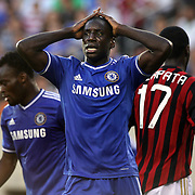 Demba Ba, Chelsea, in action during the Chelsea V AC Milan Guinness International Champions Cup tie at MetLife Stadium, East Rutherford, New Jersey, USA.  4th August 2013. Photo Tim Clayton