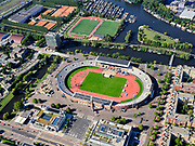 Nederland, Noord-Holland, Amsterdam, 02-09-2020; Stadionplein met Olympisch Stadion.<br /> <br /> luchtfoto (toeslag op standard tarieven);<br /> aerial photo (additional fee required);<br /> copyright foto/photo Siebe Swart
