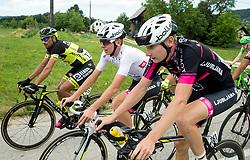 Tadej Pogacar (SLO) of Rog - Ljubljana and Ziga Rucigaj (SLO) of Rog - Ljubljana during last Stage 4 of 24th Tour of Slovenia 2017 / Tour de Slovenie from Rogaska Slatina to Novo mesto (158,2 km) cycling race on June 18, 2017 in Slovenia. Photo by Vid Ponikvar / Sportida