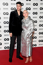 Rose McGowan and Rain Dove attending the GQ Men of the Year Awards 2018 at the Tate Modern, London. Picture credit should read: Doug Peters/Empics