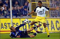 Fotball<br /> Belgia 2003/2004<br /> 18.10.2003<br /> Brugge / Brügge v Westerlo<br /> Foto: Digitalsport<br /> Norway Only<br /> <br /> RUNE LANGE / BA SADIO