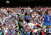 Football - Scottish Premier League - Rangers vs. Celtic<br />  <br /> Celtic's Thomas Rogne scores with a header during the third Old Firm encounter of the season during the Rangers vs Celtic Scottish Premier League match at Ibrox Stadium Glasgow on March 25th 2012 <br /> <br /> Ian MacNicol/Colorsport