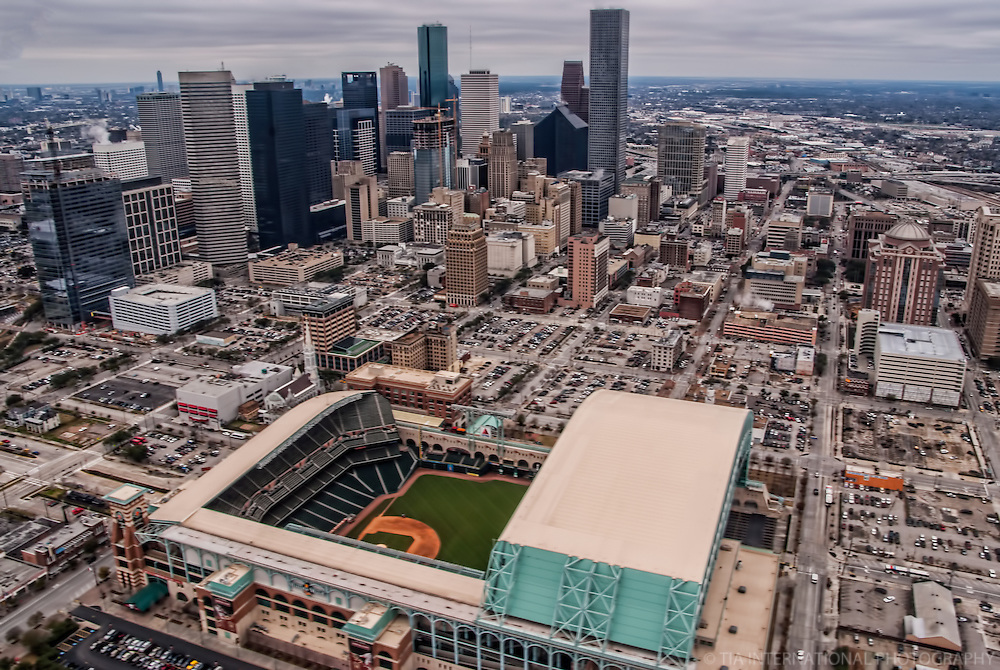 Downtown Houston and Minute Maid Park