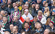Twickenham, England, 23rd February, Spectators, Keen supporters, in various dress, at the Guinness Six Nations, International Rugby, England vs Ireland, RFU Stadium, United Kingdom, [Mandatory Credit; Peter SPURRIER/Intersport Images]