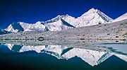 Chomolungma reflection, South Col centre & Lhotse (left), Kharta glacier, east of Everest, Tibet
