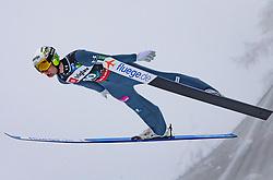 Ziga Jelar (SLO) // Ziga Jelar of Slovenia flying through the air during Trial Round at Day 1 of FIS Ski World Flying Championship Planica 2020, on December 10, 2020 in Planica, Kranjska Gora, Slovenia. Photo by Vid Ponikvar / Sportida