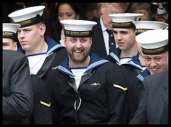 May 3, 2019 - London, United Kingdom - New Defence Secretary Penny Mordaunt leaving  a service  to recognise fifty years of continuous deterrent at sea at Westminster Abbey in London. (Credit Image: © Stephen Lock/i-Images via ZUMA Press)