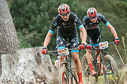 Francesc GUERRA CARRETERO (ESP) and Enrique MORCILLO VERGARA (ESP) of team BUFF SCOTT MTB during the Prologue of the 2019 Absa Cape Epic Mountain Bike stage race held at the University of Cape Town in Cape Town, South Africa on the 17th March 2019.<br /> <br /> Photo by Greg Beadle/Cape Epic<br /> <br /> PLEASE ENSURE THE APPROPRIATE CREDIT IS GIVEN TO THE PHOTOGRAPHER AND ABSA CAPE EPIC