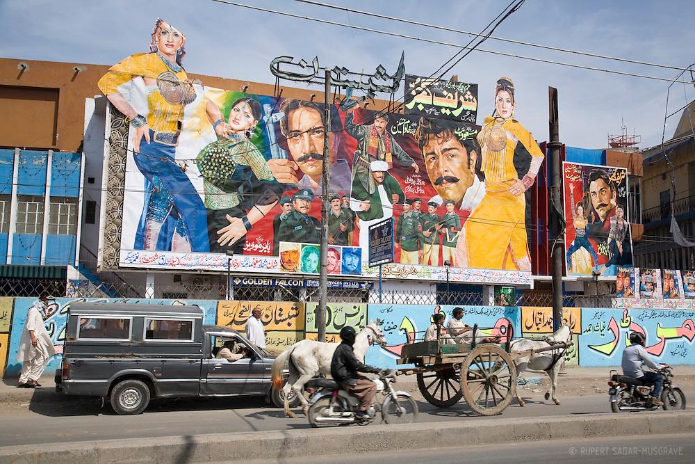 Hand-painted cinema hoardings in Lahore.