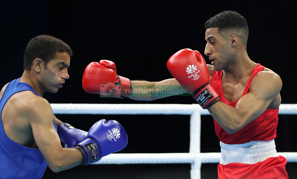 England's Galal Yafai (right) and India's Amit in the Men's Light Flyweight Final at Oxenford Studios during day ten of the 2018 Commonwealth Games in the Gold Coast, Australia.