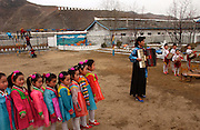 Kindergarten at Yonsan, where music and dancing are performed for a VIP visit. North Hwanghae. 15 Mar 2004