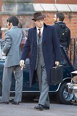 Hugh Grant on set as MP Jeremy Thorpe - 4 Oct 2017