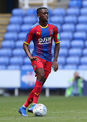 """Crystal Palace's Aaron Wan-Bissaka during the pre-season friendly match at the Madejski Stadium, Reading. PRESS ASSOCIATION Photo. Picture date: Saturday July 28, 2018. See PA story SOCCER Reading. Photo credit should read: Mark Kerton/PA Wire. RESTRICTIONS: EDITORIAL USE ONLY No use with unauthorised audio, video, data, fixture lists, club/league logos or """"live"""" services. Online in-match use limited to 75 images, no video emulation. No use in betting, games or single club/league/player publications."""