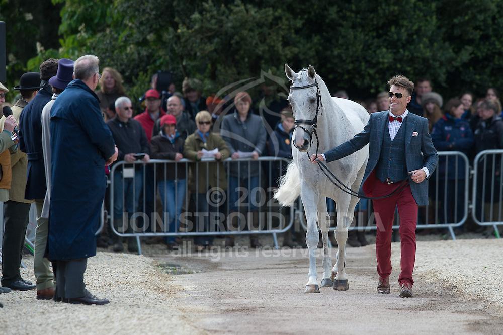 Paul Tapner (AUS) & Kilronan - First Horse Inspection - Mitsubishi Motors Badminton Horse Trials - CCI4* - Badminton, Gloucestershire, United Kingdom - 06 May 2015