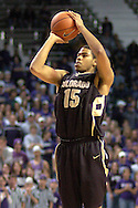 Colorado forward Chris Copeland fires a shot against Kansas State during the first half of the Wildcats 72-60 win over the Buffaloes at Bramalage Coliseum in Manhattan, Kansas, February 18, 2006.