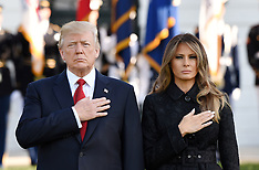 President Donald Trump and first lady Melania Trump hold moment silence on anniversary of 9/11