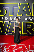 Daisy Ridley - The European Premiere of STAR WARS: THE FORCE AWAKENS - Odeon, Empire and Vue Cinemas, Leicester Square, London.