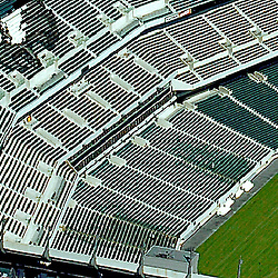 Aerial of Lincoln Financial Field, Home of the Philadelphia Eagles.