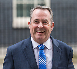 © Licensed to London News Pictures. 07/03/2017. London, UK. Secretary of State for International Trade Liam Fox leaves 10 Downing Street. Photo credit: Rob Pinney/LNP