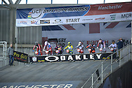 Elite Women's Race Ready for the FinalBMX World Cup Finals at  at the Manchester Arena, Manchester, United Kingdom on 19 April 2015. Photo by Charlotte Graham.