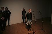 Iwona Blazwick, Margaret Salmon supported by Max Mara. Whitechapel. 24 January 2007.  -DO NOT ARCHIVE-© Copyright Photograph by Dafydd Jones. 248 Clapham Rd. London SW9 0PZ. Tel 0207 820 0771. www.dafjones.com.