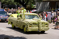 """Stock photo of the Houston Art Car Parade 2012 - """"Have A Ball"""" by Bill Ludlam"""