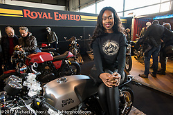 Royal Enfield Motorcycles display at Motor Bike Expo. Verona, Italy. Saturday January 21, 2017. Photography ©2017 Michael Lichter.