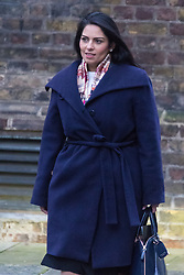 Downing Street, London, February 9th 2016.  Employment Minister Priti Patel arrives in Downing Street for the weekly cabinet meeting. ///FOR LICENCING CONTACT: paul@pauldaveycreative.co.uk TEL:+44 (0) 7966 016 296 or +44 (0) 20 8969 6875. ©2015 Paul R Davey. All rights reserved.