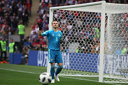 June 14, 2018 - Moscow, Russia - Russian Federation. Moscow. The Luzhniki Stadium. Match Opening of the World Cup 2018. Russia - Saudi Arabia. Solemn opening ceremony of the FIFA World Cup 2018. FIFA World Cup 2018. Player of the Russian national football team (in red)..Igor Akinfeev. (Credit Image: © Russian Look via ZUMA Wire)