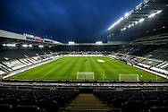 A general view of St James' Park before the Premier League match between Newcastle United and Leeds United at St. James's Park, Newcastle, England on 26 January 2021.