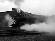 Operating steam locomotive at Steamtown, USA, National Park.