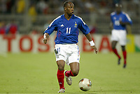FOOTBALL - CONFEDERATIONS CUP 2003 - GROUP A - 030618 - FRANKRIKE v COLOMBIA - SYLVAIN WILTORD (FRA) - PHOTO GUY JEFFROY / DIGITALSPORT
