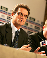 Photo: Tom Dulat/Sportsbeat Images.<br /> <br /> England Press Conference. 17/12/2007.<br /> <br /> Fabio Capello answers questions during press conference.
