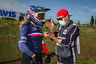 2021 UCI BMXSX World Cup 1&2<br /> Friday Practice<br /> WE + WU<br /> ^we#3 ETIENNE, Axelle (FRA, WE) DN1 Lempdes BMX Auvergne, Thrill, Lead, Tangent, Answer, Maxxis