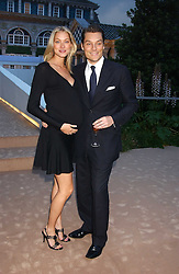 SEB & HEIDI BISHOP at a summer party hosted by champagne house Krug held at Debbenham House, 8 Addison Road, London on 28th June 2005.<br /><br />NON EXCLUSIVE - WORLD RIGHTS
